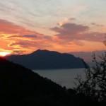 Alba sul Monte di Portofino